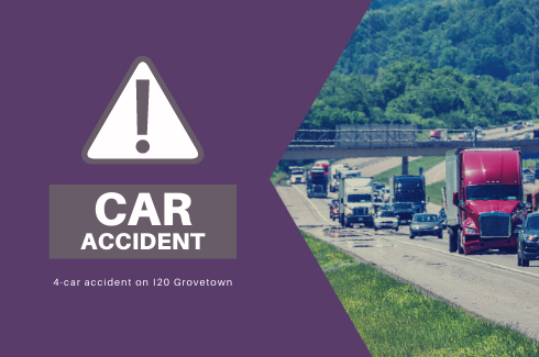 Minor Injuries Reported in Multi-Vehicle Accident on I20 in Grovetown
