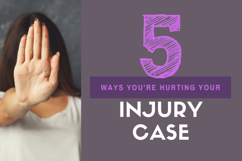 Are You Making Your Accident Claim Worse?